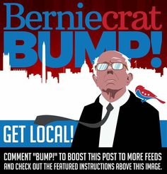 All hands on deck! Read all the way to the end. Berniecrats, it's just not enough that Bernie, Local Berniecrats, Our Revolution, and other progressive leaders talk about the SOLUTION of electing bold progressives to *local office* and above for bottom up political revolution.   We will fail again UNLESS, we all, every bold progressive like you and me, discuss that solution when we discuss political problems online and offline. We must establish a new narrative that all bold progressives…