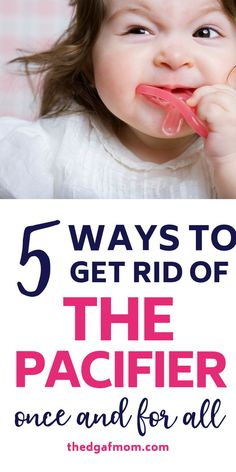 Help your toddler get rid of their beloved pacifier without the drama, without the tears, and in three days! (Yes, YOUR baby's binky!). How we got our baby to ditch the binky and learn to sleep without it.