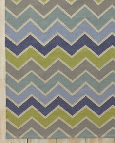 Chevron Indoor-Outdoor Flat-Weave Rug