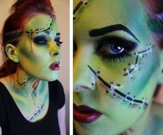 bride of frankenstein halloween makeup hallowen org
