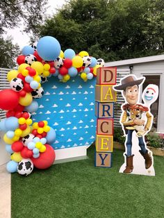 Woody Birthday, Boys First Birthday Party Ideas, Toy Story Birthday, 4th Birthday Parties, 1st Boy Birthday, Festa Toy Store, Toy Story Decorations, 2nd Birthday Pictures, Toy Story Baby