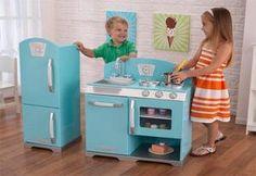 KidKraft Blue Retro Kitchen and Refrigerator | My Urban Child -