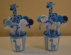 Giraffe Baby Shower Centerpiece with Washcloth by AngelBlessings12