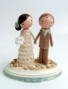 Adorable custom cake toppers - click through for the Etsy Shop.