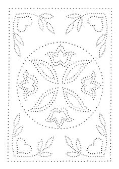 Paper Embroidery Patterns Dutch Plate Punched Tin Pattern More - Embroidery Cards, Embroidery Stitches, Embroidery Patterns, Doily Patterns, Dress Patterns, Hand Quilting, Machine Quilting, Paper Piercing Patterns, Punched Tin Patterns