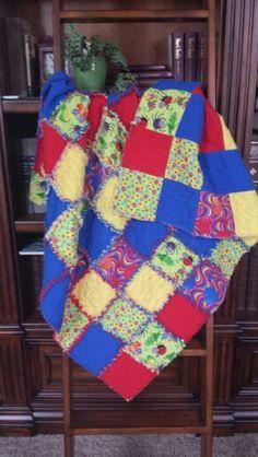 Other Grandboy's rag quilt June 2015