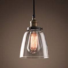 Loving these old school Edison light bulb pendants!