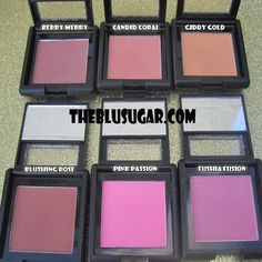 ELF Blushes Swatches and Review http://theblusugar.com/2012/10/23/elf-blushes-swatches-and-review/