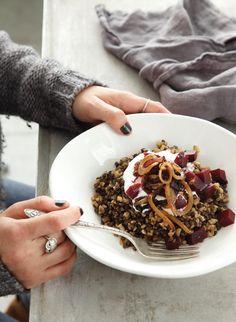 Mejadra Freekeh: In other words, a tasty lentil stew