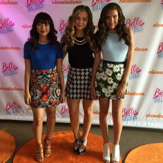 Public appearance of the girls from Nickelodeon Bella And The Bulldogs. Makeup for Brec Bassinger and Lilimar Hernandez by CandaceCorey.com