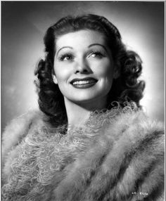 Gorgeous Photograph of Lucille Ball with her Trademark Happy Smile -=- [Source: Flickr Photo Sharing 'Lucy_Fan']  ♥༻