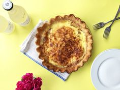 This Quick Quiche Lorraine is the Answer to All Your Brunch Problems via Brit + Co.