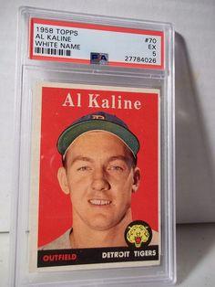 1958 Topps Al Kaline PSA EX 5 Baseball Card #70 MLB HOF Collectible #DetroitTigers