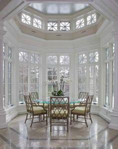 Stunning breakfast nook. Interior design ~ Tony Cappoli