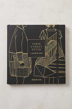 Paris Street Style Coloring Book.