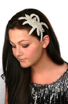 Crystal Bridal Headband, Beaded Rhinestone Hair Piece, Headpiece, Fascinator - Supernova - rhinestone fascinator hairpiece. $72.00, via Etsy.