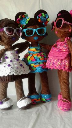Crochet brown girls!