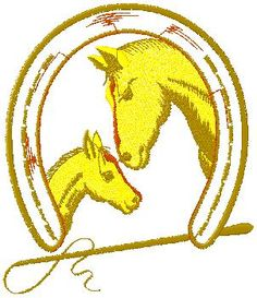 Horses embroidery design free download