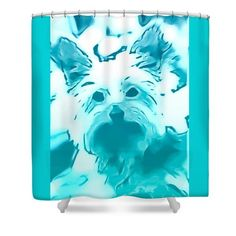 Designer Shower Curtain Dog Corgi Black White Bathroom