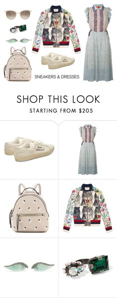 """""""Untitled #406"""" by dudejunk ❤ liked on Polyvore featuring Yves Saint Laurent, Fendi, Gucci, Noor Fares, Marni, Chopard and SNEAKERSANDDRESSES"""