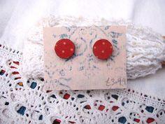 Circular Wooden Dotty Earrings £3.99