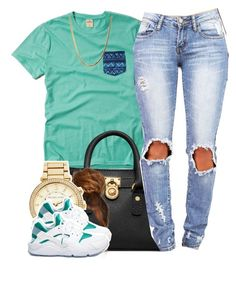 """""""."""" by clickk-mee ❤ liked on Polyvore featuring Hollister Co., Michael Kors, MICHAEL Michael Kors and NIKE"""