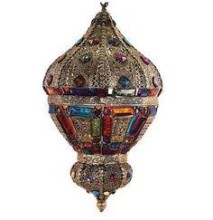 Lámpara colgante estilo árabe marroquí #decoracion #interiorismo #lamparas