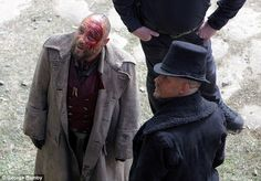 Bloody hell! Tom was joined on the set his co-star Stephen Graham, who also looked to have...