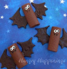 Chocolate snack cake bats make sweet treats for Halloween