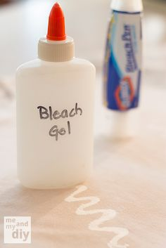 Homemade Bleach Gel - Would be neat to make designs on solid color fabrics before sewing!