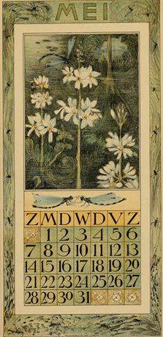 Theodoor van Hoytema, calendar 1911 may