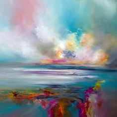 Alison Johnson Oil on canvas an original oil painting inspired by colour and atmosphere