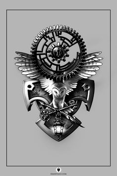 A full-back piece. I'm new to the conventions of tattoo design, so if any veterans want to weigh in on what could be improved, I'd love the advice.
