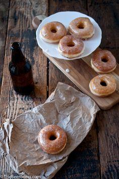 Classic Glazed Beer Doughnuts