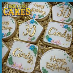 Beautiful ☺️ 30th Birthday 🎉 Cookies. #letscelebrate #happybirthday #makeawishcakes Birthday Cookies, 30th Birthday, Make A Wish, Custom Cakes, Cake Cookies, How To Make Cake, Cake Pops, Special Occasion, Birthdays