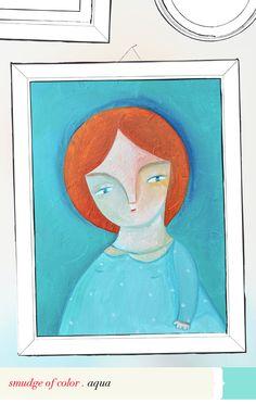 expecting you! #virr #aqua #turquoise #ireneagh #wallofframes #portrait #littlefish