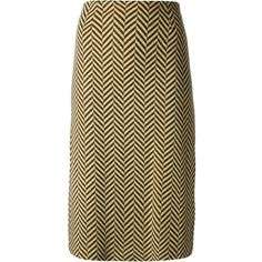 Biba Vintage diagonal stripe print pencil skirt ($660) ❤ liked on Polyvore featuring skirts, brown, brown pencil skirt, striped pencil skirt, stripe pencil skirt, brown skirt and high waisted skirts