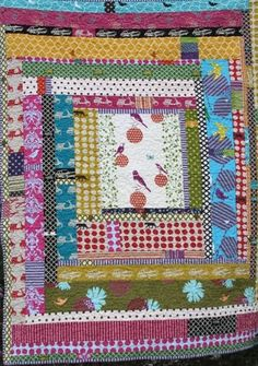 Big log cabin quilt by annette