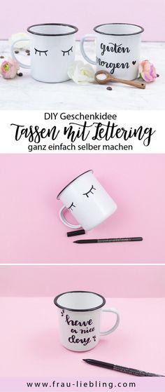 frau liebling, diy blog, deko, geschenke, illustrationen, lettering, Tassen mit Lettering gestalten