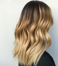 Sun kissed ends. ☀️ Sharon Chang is giving us all the hair love with this ombré look.  #weekendhaircrush #hairinspo #ombrehair #maneenvy
