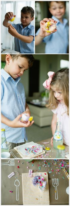 """Tutorial on creating your very own Easter Egg Piñata Poppers ~ Also called """"Cascarones"""" ~ Confetti & fun for the kiddos & adults! (especially when you make them together!)"""