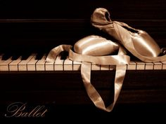 pointe shoes atop a piano, two of my favorite things :)