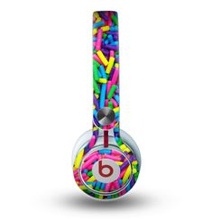The Neon Sprinkles Skin for the Beats by Dre Mixr Headphones Cute Headphones, Sports Headphones, Bluetooth Headphones, Fashion Headphones, Phone Watch For Kids, Really Cool Gadgets, Beats By Dre, Audiophile, Neon