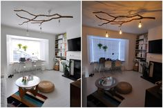 Tree branch chandelier | Mama is dreaming...