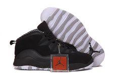 Nike Air Jordan 10 X Retro Mens Stealth Shoes Black / White Stealth http:/