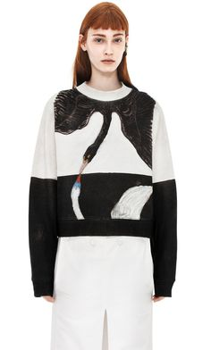 LOVE THIS! Acne, Hilma af Klint Collection.  Acne Studios Bird H.K Black / White Swan - print from the inspiring artist Hilma af Klint.