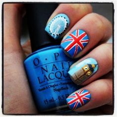 A must when in London: Opi nail polish with various London designs (color unknown)