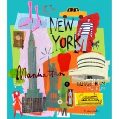 Oopsy Daisy - Tour New York Canvas Wall Art 24x24, Susy Pilgrim Waters