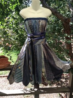 dress/skirt made from neckties.  All silk 25 ties on Etsy, $107.95 CAD