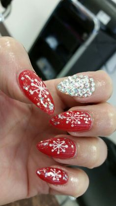Christmas red with some sparkle!
